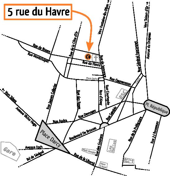 Plan d'accès à La rustine